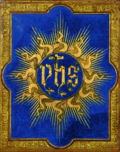 Tavoletta di San Bernardino con trigramma di Cristo (1425)