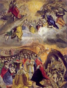 El Greco, Adorazione del Nome di Gesù(1579)
